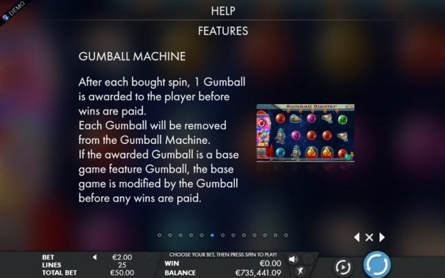 Noxwin featuring the Video Slots Gumball Blaster with a maximum payout of $25,000