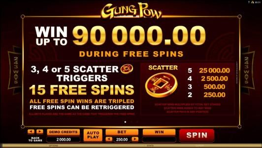 Win up to 90,000.00 during Free Spins - Free Spins Game Rules