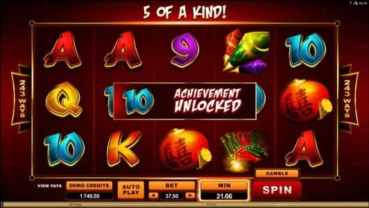 Golden Tiger featuring the Video Slots Gung Pow with a maximum payout of $30,000