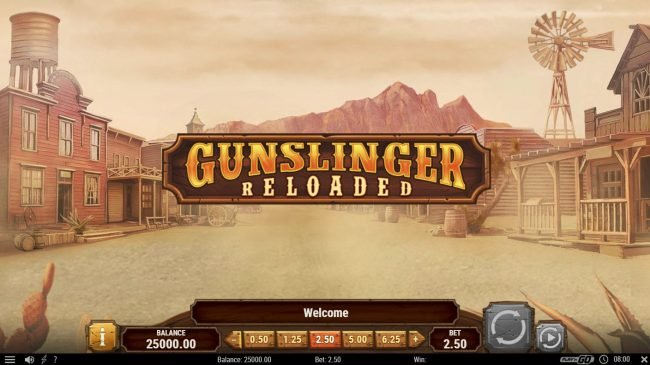 Wild Jackpots featuring the Video Slots Gunslinger Reloaded with a maximum payout of $40,000