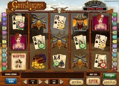 Play slots at Play Jango: Play Jango featuring the Video Slots Gunslinger with a maximum payout of Jackpot
