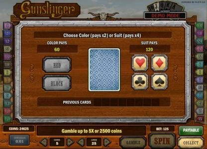 Jonny Jackpot featuring the Video Slots Gunslinger with a maximum payout of Jackpot