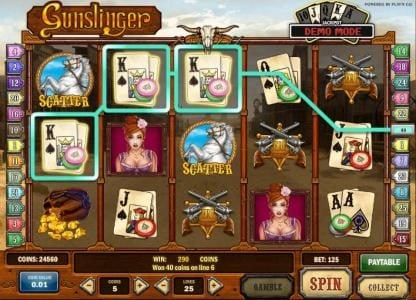 Play slots at Surf Casino: Surf Casino featuring the Video Slots Gunslinger with a maximum payout of Jackpot