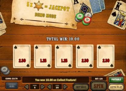 Play Club Casino featuring the Video Slots Gunslinger with a maximum payout of Jackpot