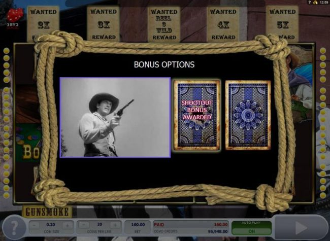 Spinland featuring the Video Slots Gunsmoke with a maximum payout of $3,000