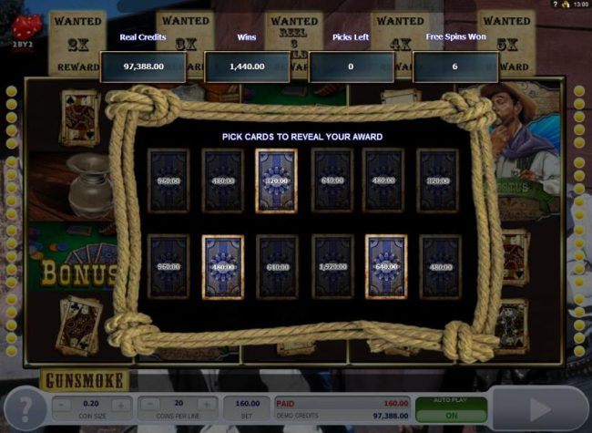Play slots at Jetbull: Jetbull featuring the Video Slots Gunsmoke with a maximum payout of $3,000