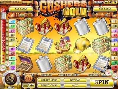Supernova featuring the Video Slots Gushers Gold with a maximum payout of $2,500