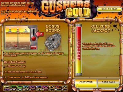 Mayan Fortune featuring the Video Slots Gushers Gold with a maximum payout of $2,500