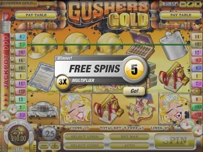 three scatter symbols triggers five free spins