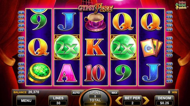 Wild multipliers are active during the free spins feature