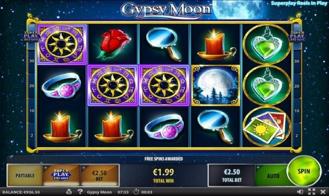 Three scatters trigger the Free Spins feature