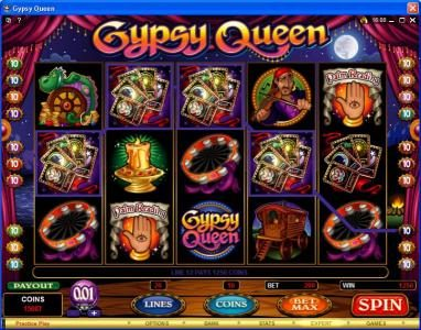 Play slots at Casino 765: Casino 765 featuring the Video Slots Gypsy Queen with a maximum payout of $600,000