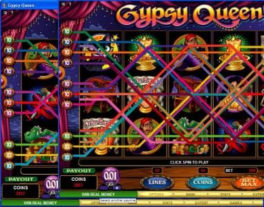 Euro Palace featuring the Video Slots Gypsy Queen with a maximum payout of $600,000