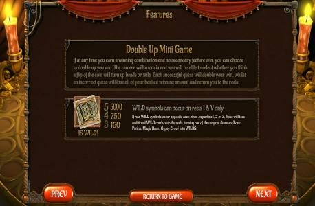 Drake featuring the Video Slots Gypsy Rose with a maximum payout of $2,500