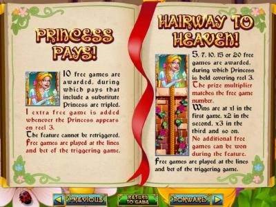 Diamond Reels featuring the Video Slots Hairway to Heaven with a maximum payout of $250,000