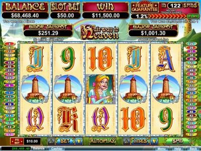 ReelSpin featuring the Video Slots Hairway to Heaven with a maximum payout of $250,000