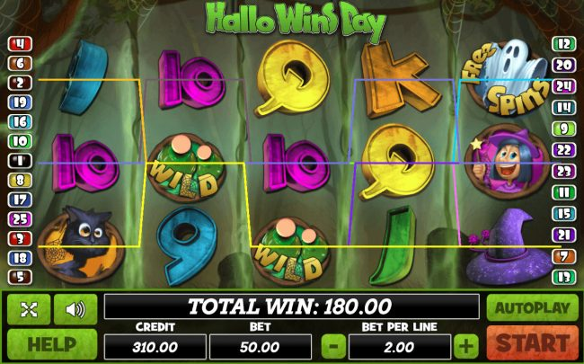 Venetian featuring the Video Slots Hallo Wins Day with a maximum payout of $37,500