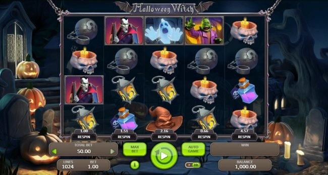 Play slots at NordiCasino: NordiCasino featuring the Video Slots Halloween Witch with a maximum payout of $5,000