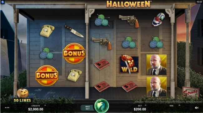 Bet At Casino featuring the Video Slots Halloween with a maximum payout of $100,000