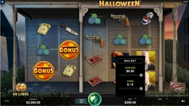 Play slots at 18 Bet: 18 Bet featuring the Video Slots Halloween with a maximum payout of $100,000