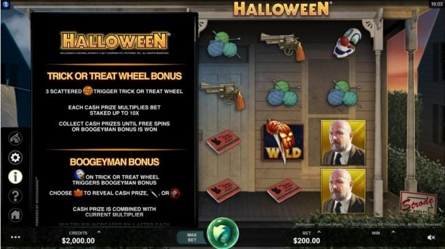 Wicked Jackpots featuring the Video Slots Halloween with a maximum payout of $100,000
