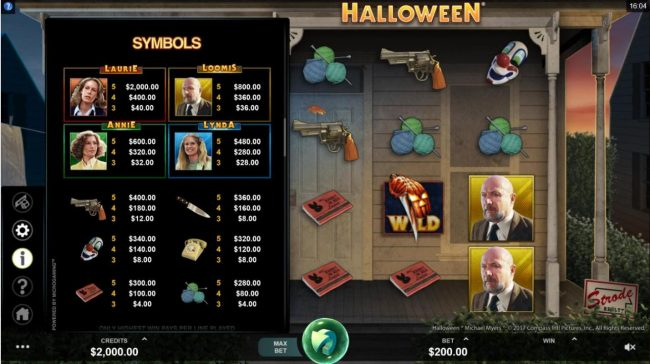 CKcasino featuring the Video Slots Halloween with a maximum payout of $100,000