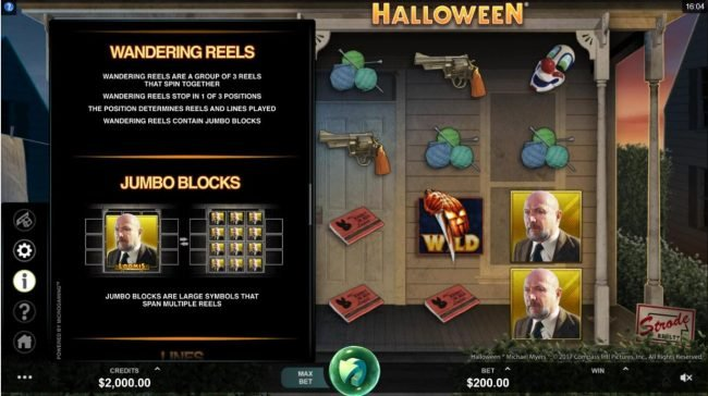Jackpot Paradise featuring the Video Slots Halloween with a maximum payout of $100,000