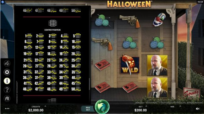 Cabaret Club featuring the Video Slots Halloween with a maximum payout of $100,000