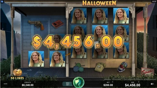 Bonanza featuring the Video Slots Halloween with a maximum payout of $100,000