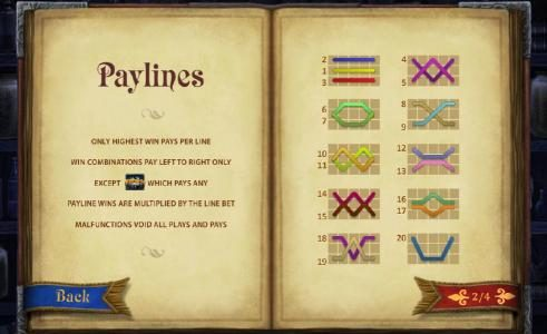 20 paylines