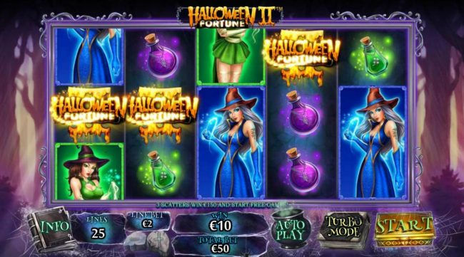 Club 777 featuring the Video Slots Halloween Fortune II with a maximum payout of $75,000