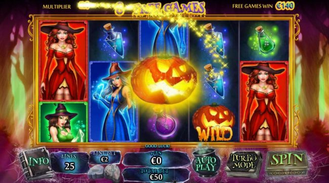 Palace VIP featuring the Video Slots Halloween Fortune II with a maximum payout of $75,000