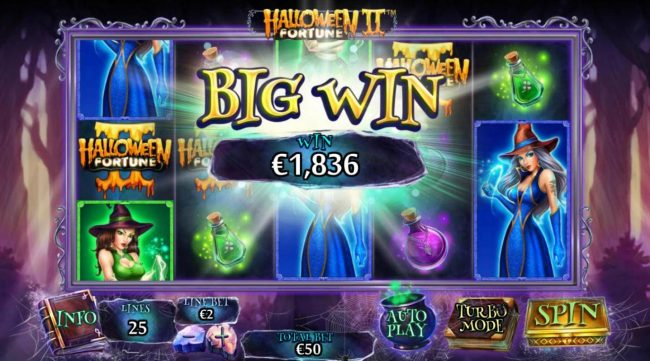 21 Nova featuring the Video Slots Halloween Fortune II with a maximum payout of $75,000