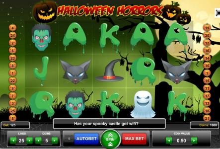 Boo Casino featuring the Video Slots Halloween Horrors with a maximum payout of $1,875