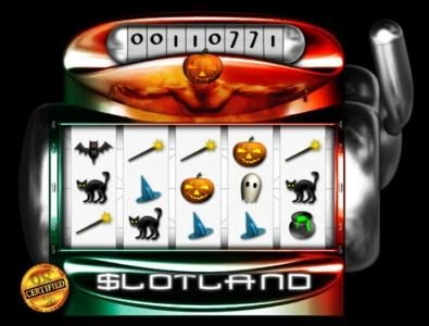 Slotland featuring the Video Slots Halloween Magic with a maximum payout of $2,000