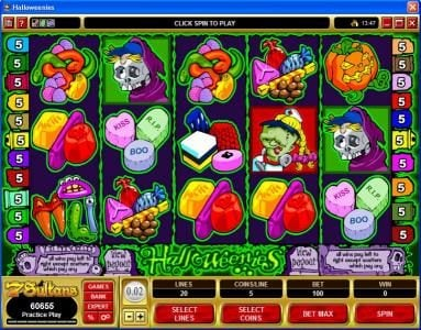 Play slots at Casino Classic: Casino Classic featuring the Video Slots Halloweenies with a maximum payout of $32,500