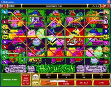 Bonanza featuring the Video Slots Halloweenies with a maximum payout of $32,500