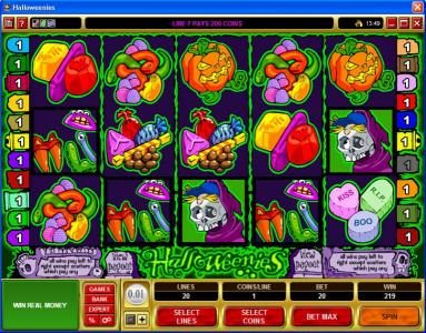 Captain Cooks featuring the Video Slots Halloweenies with a maximum payout of $32,500