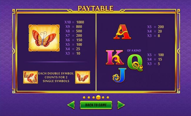 Haoshi Cheng Shuang :: Low value game symbols paytable.