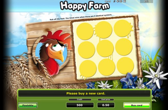 Play slots at Yeti Casino: Yeti Casino featuring the Video Slots Happy Farm with a maximum payout of $50,000