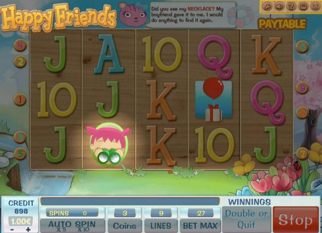 Play slots at Casdep: Casdep featuring the Video Slots Happy Friends with a maximum payout of $900,000