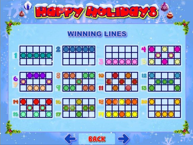 Mongoose Casino featuring the Video Slots Happy Holidays with a maximum payout of $500,000