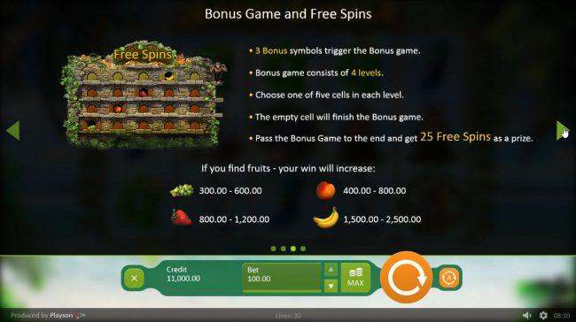 NordiCasino featuring the Video Slots Happy Jungle with a maximum payout of $100,000