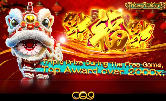 Play slots at Cyber Spins: Cyber Spins featuring the Video Slots Happy Rich Year with a maximum payout of $60,750