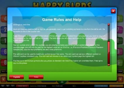 Company featuring the Video Slots Happy Birds with a maximum payout of $1,000