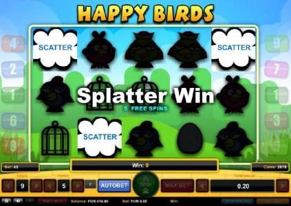 Play slots at TS: TS featuring the Video Slots Happy Birds with a maximum payout of $1,000