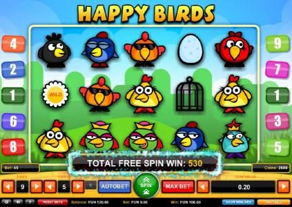 Play slots at Dream Vegas: Dream Vegas featuring the Video Slots Happy Birds with a maximum payout of $1,000