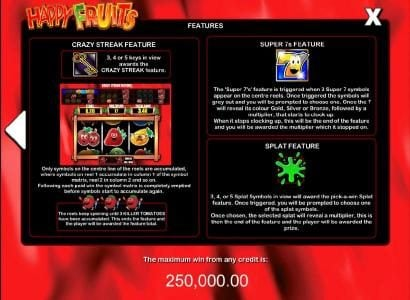 Happy Fruits :: how to play bonus features