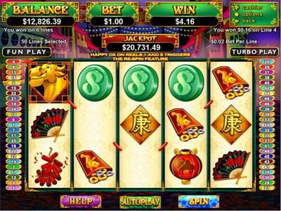 Play slots at Ignition: Ignition featuring the Video Slots Happy Golden Ox of Happieness with a maximum payout of Jackpot
