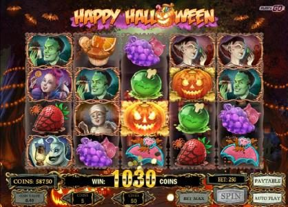 Shadowbet featuring the Video Slots Happy Halloween with a maximum payout of $2,000,000